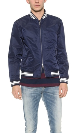 Nylon Varsity Jacket by Gant Rugger in Master of None