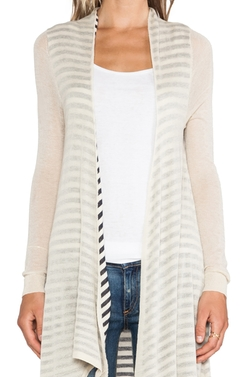 Stripe Reverse Cardigan by Ladakh in The DUFF