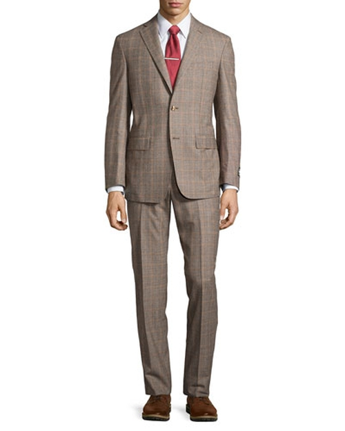 Two-Piece Plaid Suit by Ike Behar in The Blacklist - Season 3 Episode 4