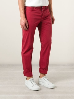 Slim Fit Trousers by Kiton in Scream Queens