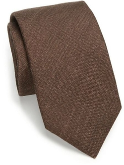 Solid Plaid Silk & Wool Tie by Saks Fifth Avenue Collection in Burn After Reading