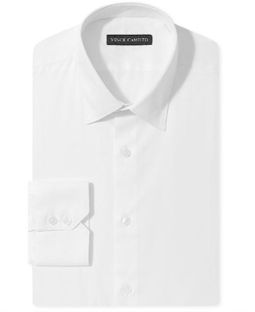 Sateen Solid Long-Sleeved Shirt by Vince Camuto in The Great Gatsby