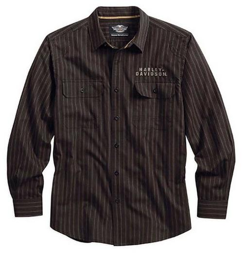 Men's Easy-Care Genuine Striped Woven Shirt by Harley-Davidson in The Hundred-Foot Journey