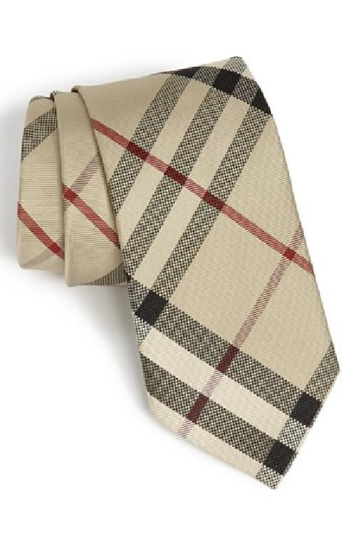 Woven Silk Tie by Burberry London in Million Dollar Arm