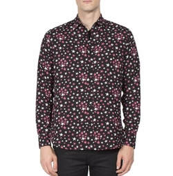 Multi-Color Star Printed Shirt by Saint Laurent in Empire