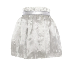 Silver Embellished Belt Skirt by Yufash in Scream Queens
