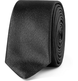 Silk-Satin Tie by Saint Laurent in The Transporter: Refueled