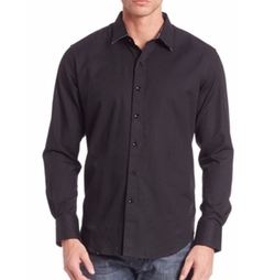Textured Cotton Shirt by Robert Graham in Quantico
