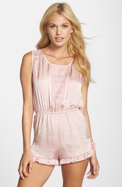 Lace Trim Romper by Band Of Gypsies in Scream Queens