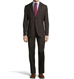Virgin Wool Two-Button Suit by Hugo Boss in New Girl