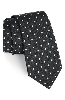 Polka Dot Silk Tie by Gitman in Kick-Ass