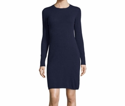 Cashmere Crewneck Sweater Dress by Neiman Marcus Cashmere Collection in Fuller House