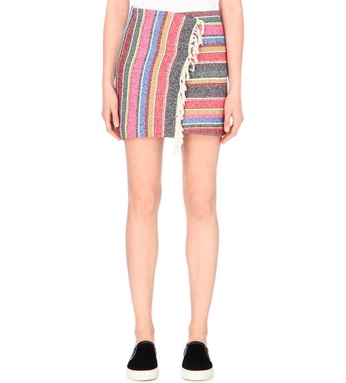 Josy Striped Cotton-Blend Wrap Skirt by Sandro in Pretty Little Liars - Season 7 Episode 4