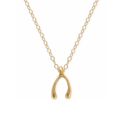 10k Gold Wishbone Pendant Necklace by Everlasting Gold in Sisters