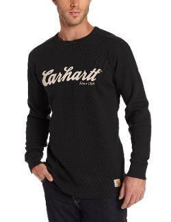 Men's Textured Knit Script Graphic Crew Neck by Carhartt in Ride Along