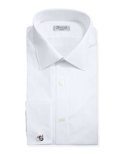 Solid Poplin French-Cuff Shirt by Charvet	 in Suits