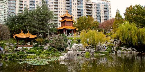 Chinese Garden of Friendship (Depicted as Japanese Temple) Sydney, Australia (Depicted as Tokyo, Japan) in The Wolverine