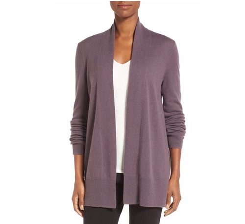Open-Front Cashmere Cardigan by Nordstrom Collection in The Boss