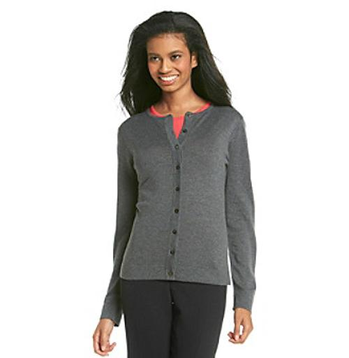 Button-front Crewneck Cardigan by August Silk in Need for Speed