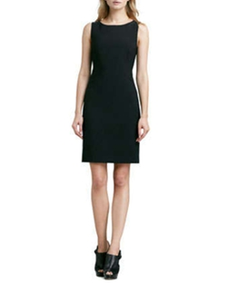 Betty Fitted Sleeveless Dress by Theory in Gone Girl