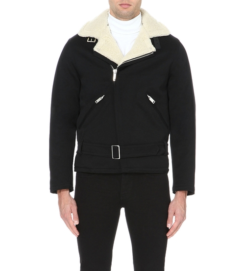Biker-Collar Cotton Jacket by Sandro in Rocky IV