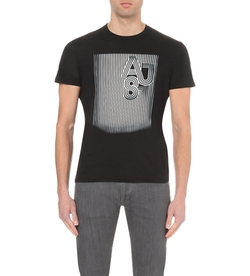 Graphic-Print Cotton-Jersey T-Shirt by Armani Jeans in The Flash