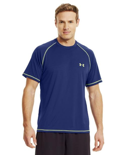 Men UA Catalyst Short Sleeve T-Shirt by Under Armour in Couple's Retreat