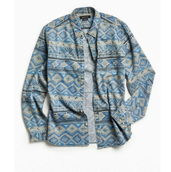 Denim Blanket Stripe Button-Down Shirt by Urban Outfitters in New Girl