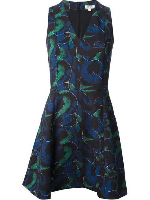Abstract Print Skater Dress by Kenzo in How To Get Away With Murder - Season 2 Episode 8