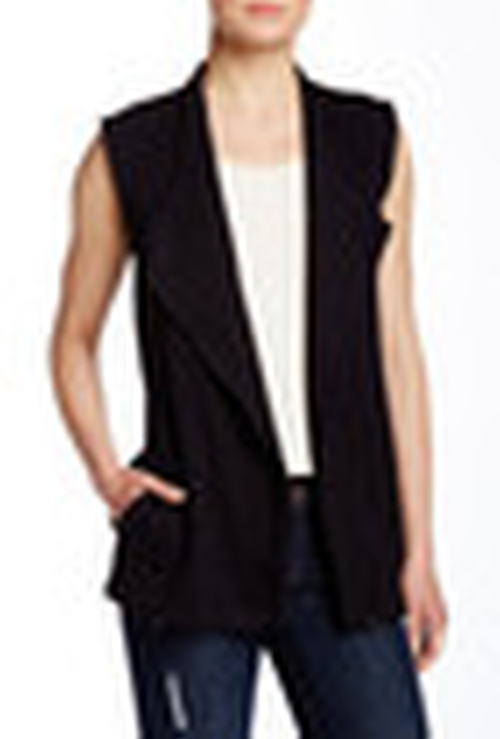 Asymmetrical Zip Vest by Bordeaux in Pretty Little Liars - Season 6 Episode 9
