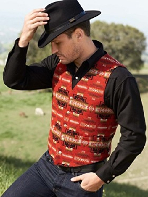 Chief Joseph Drifter Vest by Pendleton in Pan