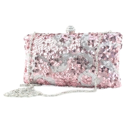 Women's Bling Glitter Sequin Cocktial Party Clutch Purse by Your Gallery in Scream Queens