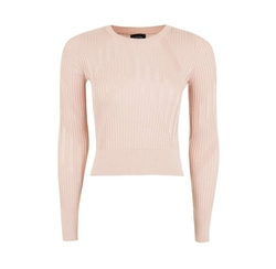 Variegated Rib Sweater by Topshop in Quantico