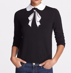 Bow Embroidered Sweater by Alice + Olivia in Pretty Little Liars
