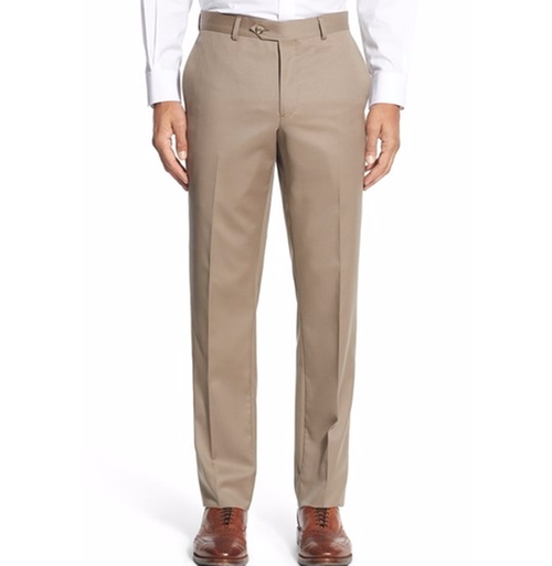 Flat Front Wool Trousers by Nordstrom Men's Shop in The Good Place - Season 1 Preview
