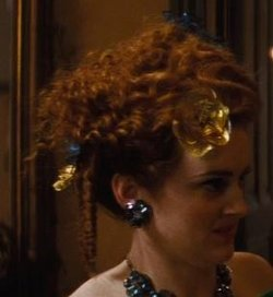 Custom Made Stud Rhinestone Earrings (Drizella) by Sandy Powell (Costume Designer) in Cinderella