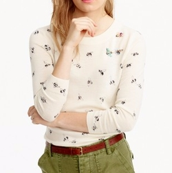 Embellished Bee Print Tippi Sweater by J.Crew in 13 Reasons Why