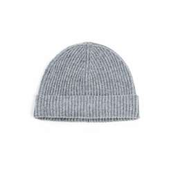 Ribbed Cashmere Beanie by Naadam in The Ranch