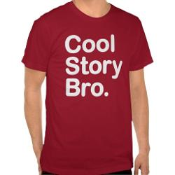 Cool Story Bro. Shirt by American Apparel in Project Almanac