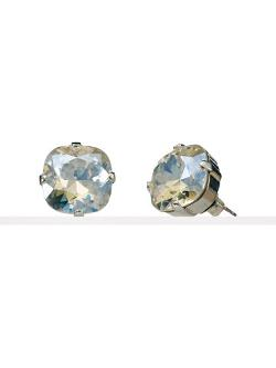 Cushion-Cut Crystal Stud Earrings by Ralph Lauren in Little Fockers