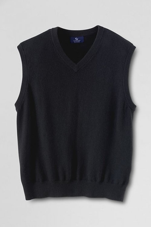 Men's Cashmere Sweater Vest by Lands' End in (500) Days of Summer