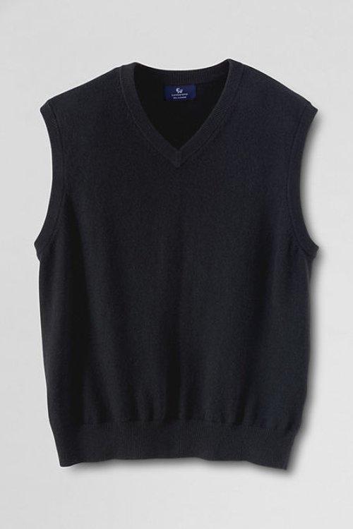 Men's Cashmere Sweater Vest by Lands' End in (500) Days of Summer