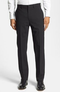 Flat Front Stretch Wool Trousers by Michael Kors in Masterminds