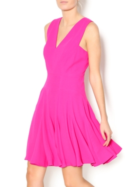 Crepe v-neck dress by Rebecca Taylor in Empire