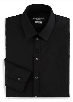 Solid Dress Shirt by Dolce & Gabbana in Limitless