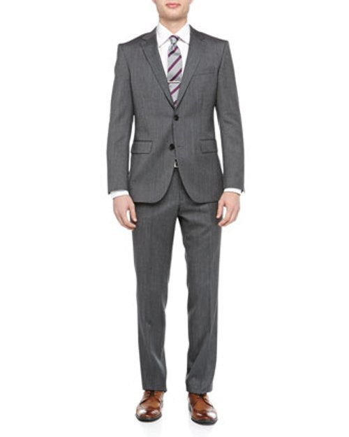 Grand Central Pindot Two-Piece Suit by Hugo Boss in Horrible Bosses 2