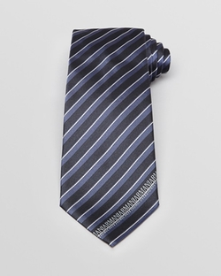 Tonal Stripe With Logo Edge Classic Tie by Armani Collezioni in Steve Jobs