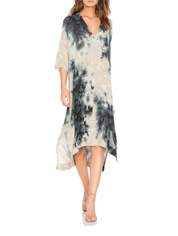 Short Sleeve V Neck Caftan by Enza Costa in Grace and Frankie
