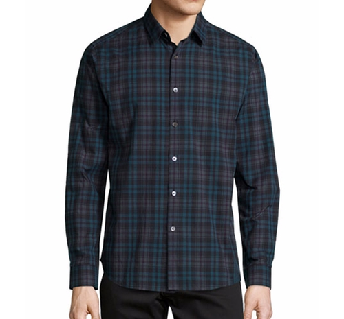 Zack Plaid Long-Sleeve Shirt by Theory in Batman v Superman: Dawn of Justice