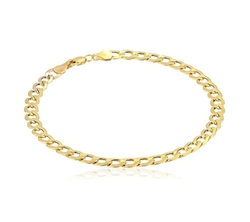 Yellow Gold 5mm Curb Link Bracelet by Amazon Collection in Girls Trip